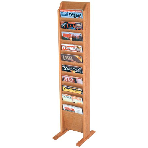 10-Pocket Floor Magazine Rack by Wooden Mallet