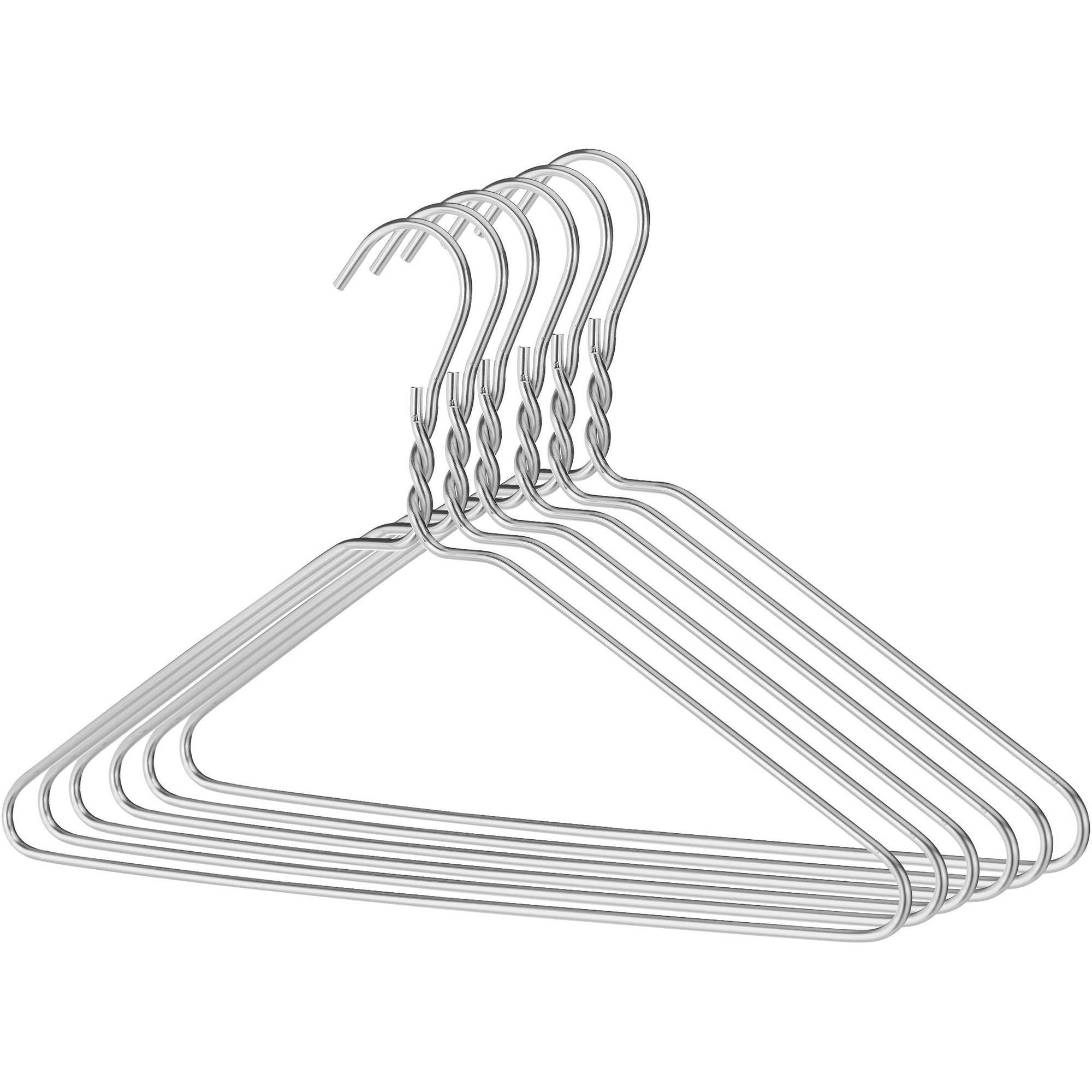 Whitmor Aluminum Chromed Clothes Hangers, Set of 6