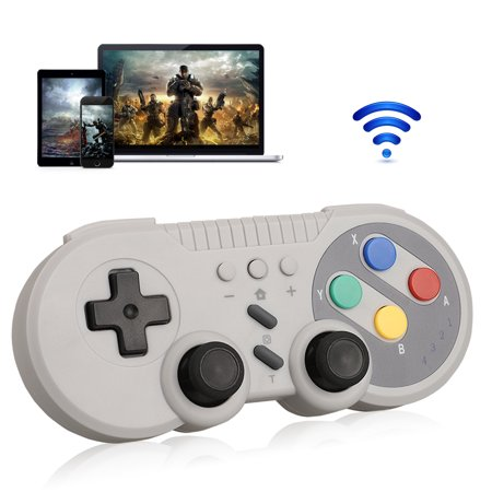 Wireless Controller for Nintendo Switch Pro Windows PC, EEEkit Classic SNES Style Bluetooth Remote Game Pad Gamepad Joystick with USB Charger Cable Joystick 8 Way Hat Switch
