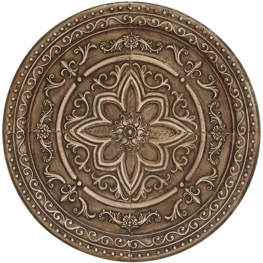 Decmode Metal Wall Decor-Taupe