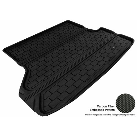 Highlander Cargo (3D MAXpider 2008-2013 Toyota Highlander All Weather Cargo Liner in Black with Carbon Fiber Look )