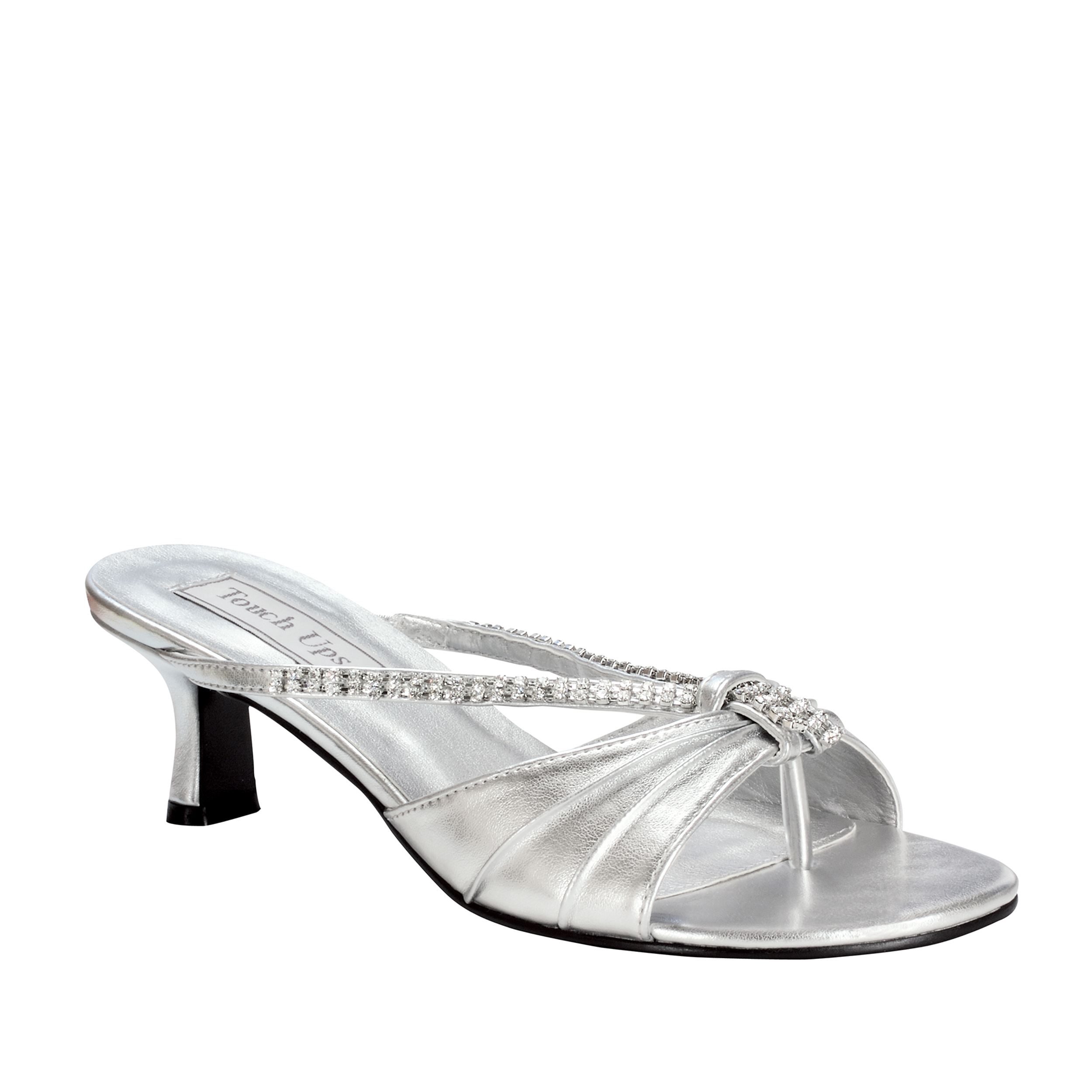 Touch Ups Womens Phoebe Slide Sandal,Silver,9 W US
