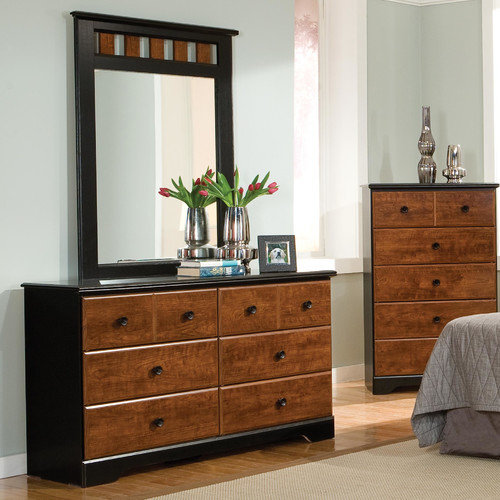 Standard Furniture Steelwood 6 Drawer Dresser with Mirror