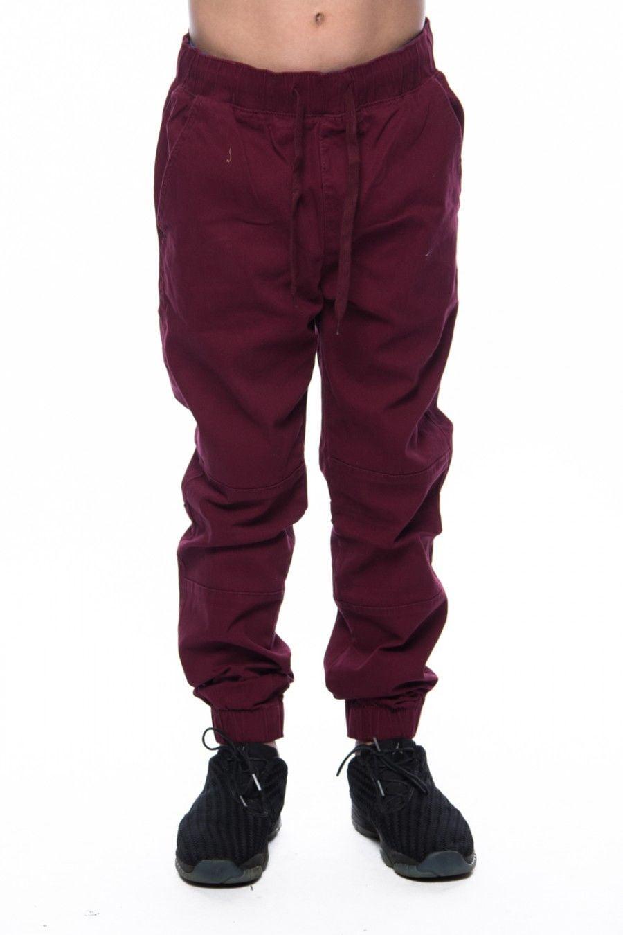 Boys Kids Pull On Loose Fit Twill Biker Pocket Jogger Pants BBP010 (6, Charcoal)