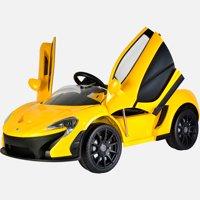 Kool Karz McLaren P1 Butterfly Doors 12V Electric Ride On Toy Car, Yellow