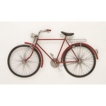 Fashionable Metal Red Bike Wall Decor