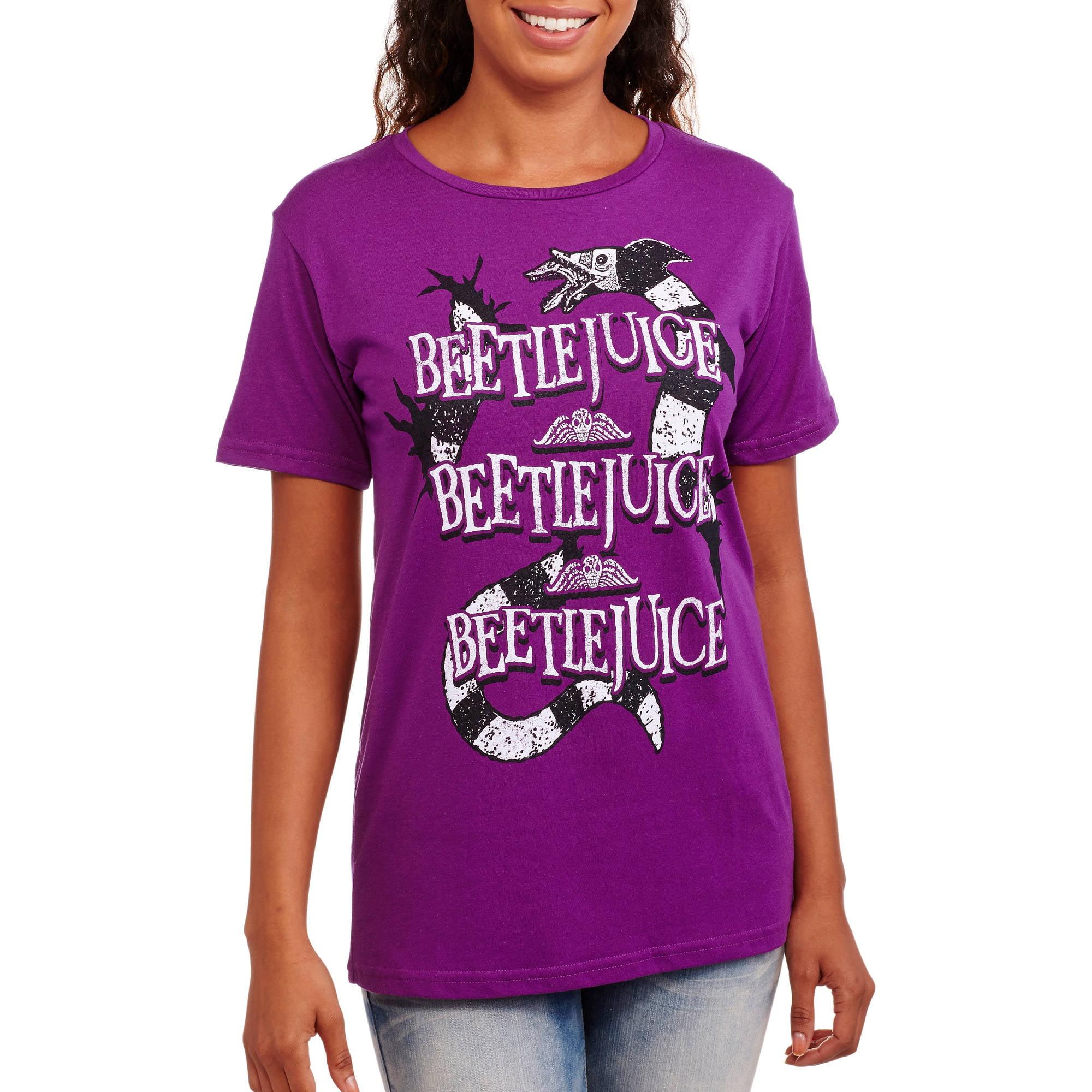 Juniors' Beetlejuice Boyfriend Tee
