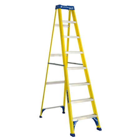 Louisville Ladder 8 ft. Fiberglass Step Ladder, Type I, 250 lbs. Load Capacity, FS2008