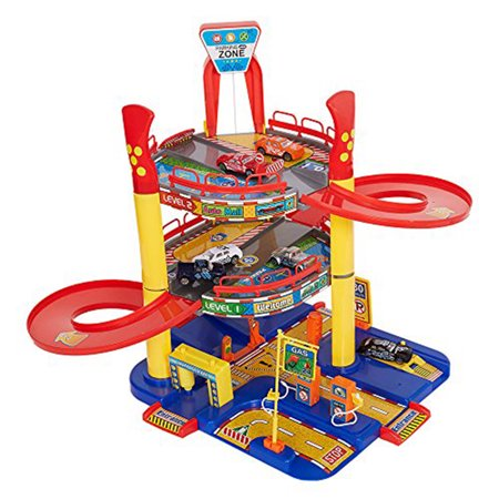 KARMAS PRODUCT Parking Toy Station Car Garage Playset Safety Quality Plastic 5 Level Toy  for Children Boys