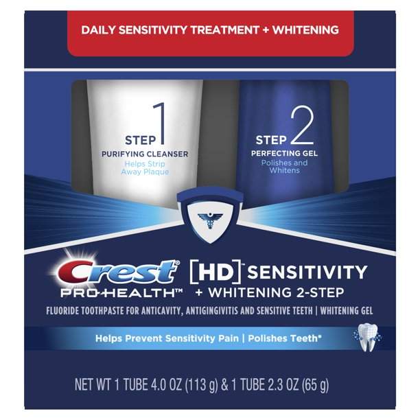 Crest Hd Sensitive And Whitening Two Step Toothpaste 4 0 Oz 2 3