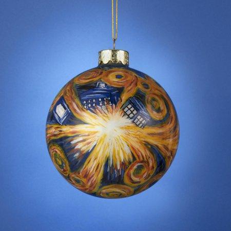 doctor who tardis inside starry night glass ball christmas ornament 4 100mm