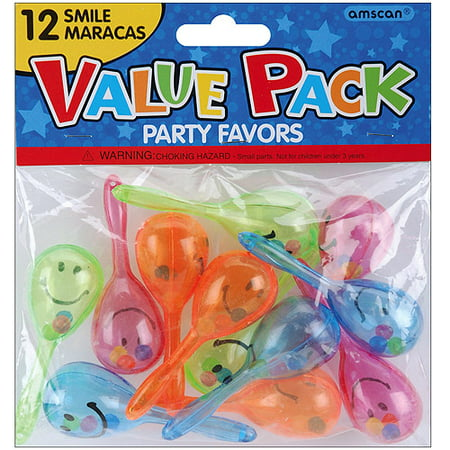 Party Maracas (Party Favors, 12-Pack, Smile Maracas)