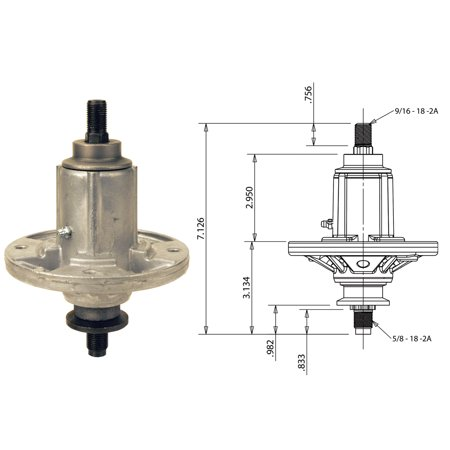 Spindle Assembly for John Deere GY20454, GY20867, GY20962, GY21098