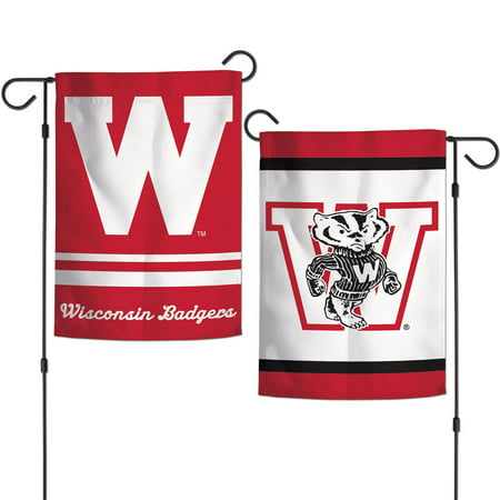 Wisconsin Badgers 2-Sided Garden Flags, 12.5