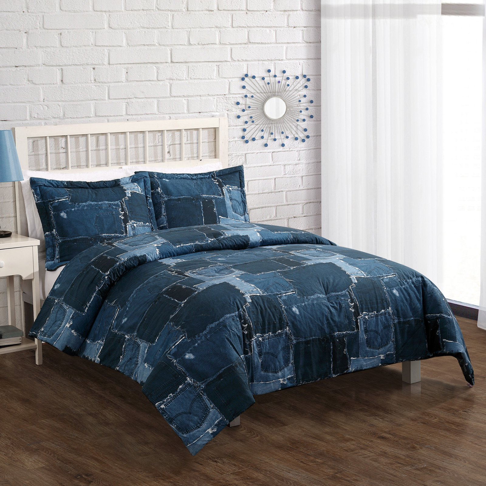 denim comforter comforters bedding queen designs sets
