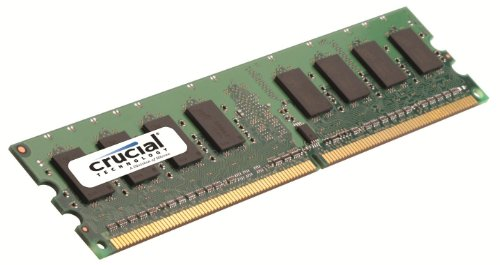 Crucial Technology CT25664AA800 2 GB 240-pin DIMM DDR2 PC2-6400 Memory Module