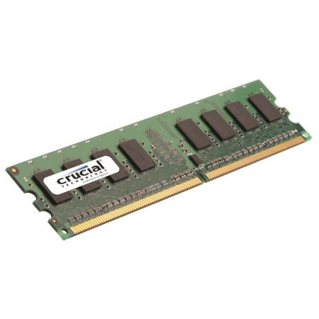 Crucial 2GB Single DDR2 667MHz (PC2-5300) CL5 Unbuffered UDIMM 240-Pin Desktop Memory Module CT25664AA667