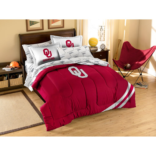 NCAA Applique Bedding Comforter Set with Sheets, University of Oklahoma