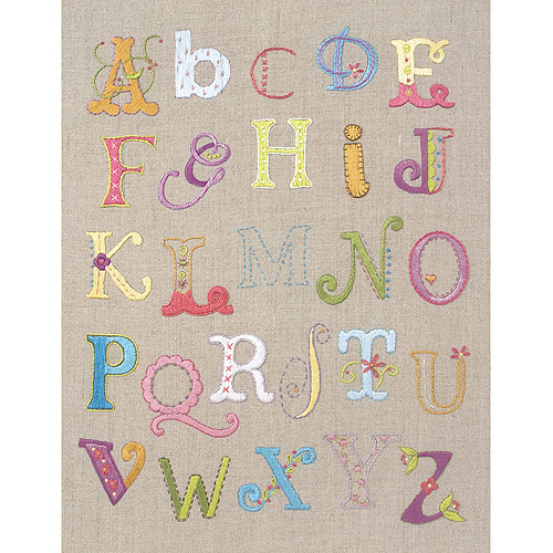 "Maia Alphabet Sampler Free Style Embroidery Kit, 12"" x 9-1/2"""