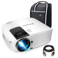 """VANKYO Leisure 510 Full HD Movie Projector, Video Projector with 200"""" Projection Size, Support 1080P HDMI VGA AV USB with Free HDMI Cable and Carrying Bag (White)"""