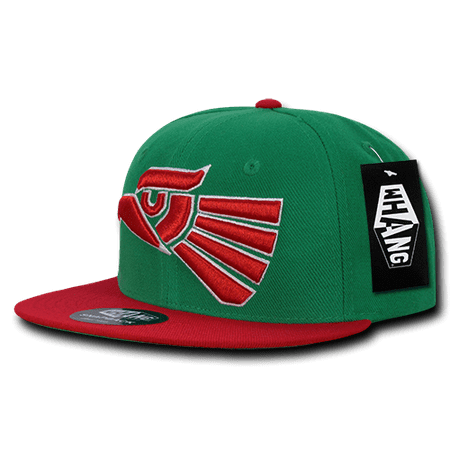 6d34f877477f6e WHANG Graphic Snapbacks Mexico Acrylic Hats Caps Cap Hat For Men Women Green /Red - Walmart.com