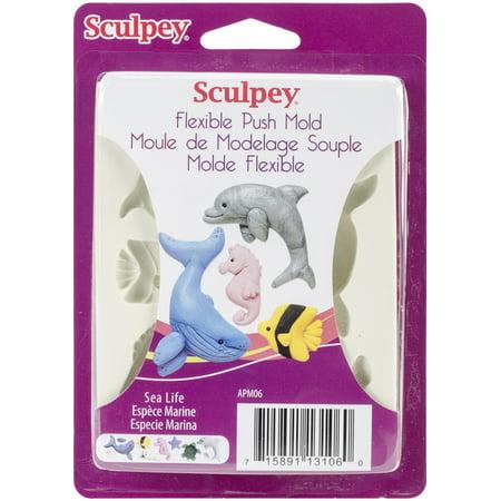 Sculpey Flexible Push Mold-Sea -