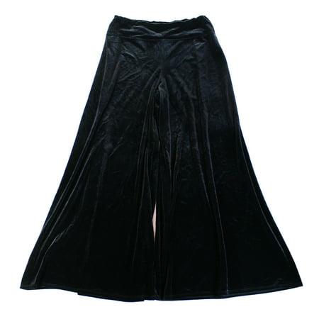 Velvet Pull - MSK NEW Deep Black Womens Size 2XL Pull-On Wide-Leg Velvet Palazzo Pants