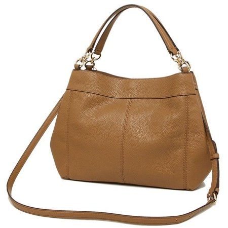 cad952ba20 NEW WOMENS COACH (F28992) SADDLE PEBBLED LEATHER SMALL LEXY SHOULDER BAG  HANDBAG - Walmart.com