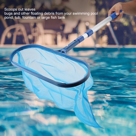 Zerone Swimming Pool Leaf Skimmer Mesh Net with Telescopic Pole Pond Tub  Effective Cleaning Tool, Pool Skimmer Net