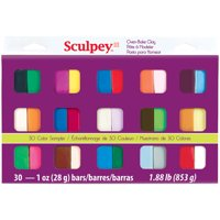Polyform Sculpey III 1oz Sampler Pack 30pc