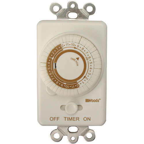 Woods In-Wall Mechanical 24-Hour Programmable Timer, White, 59745