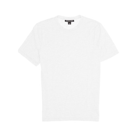 Michael Kors Mens White Heather Short Sleeve Crew Neck T-Shirt ()