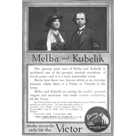 Phonograph Ad 1914 Namerican Magazine Advertisement For Victor Talking Machine Company 1914 Rolled Canvas Art -  (24 x 36) Victor Talking Machine Company