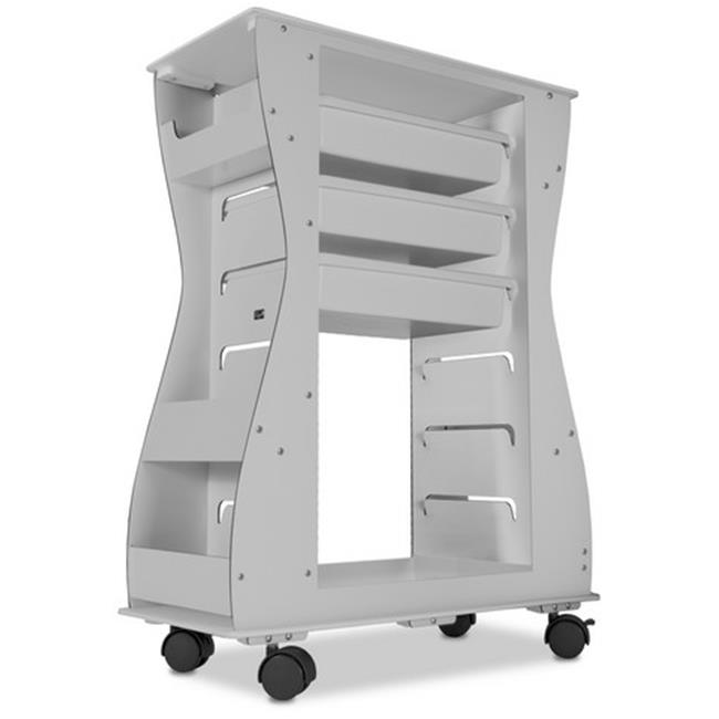 TrippNT 51474 Hourglass 2-Sided White Light Duty Cart - 24 x 31.5 x 11.25 in.