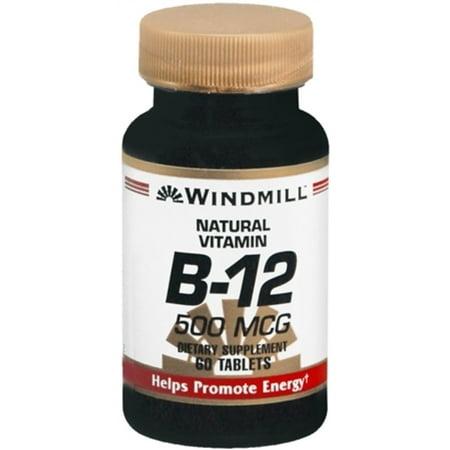 6 Pack - Windmill La vitamine B-12 500 mcg comprimés 60 comprimés