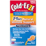 Cold-EEZE Plus Natural Immune Support + Natural Energy Orange Flavor Cold Remedy QuickMelts, 24 count