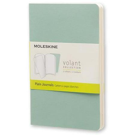 Moleskine Volant Journal (Set of 2), Pocket, Plain, Sage Green, Seaweed Green, Soft Cover (3.5 X 5.5) Paperback