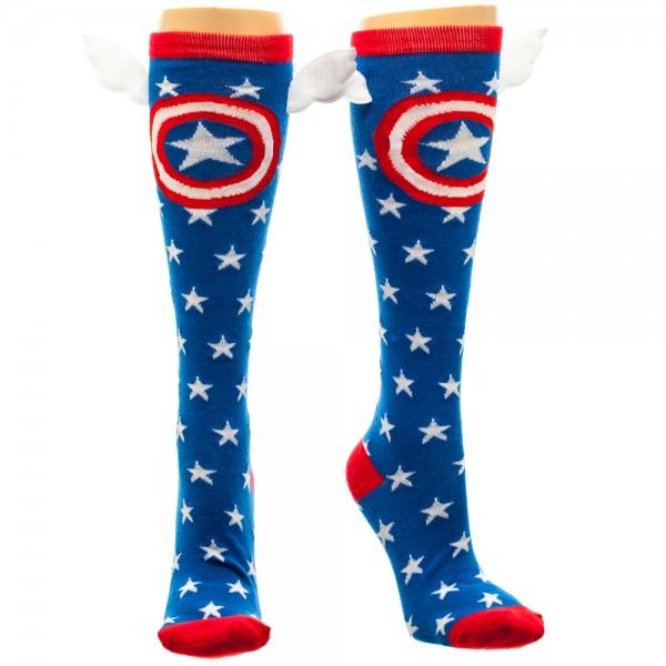 Knee High Socks - Marvel - Star w/Wings New Licensed kh2sdwmvl
