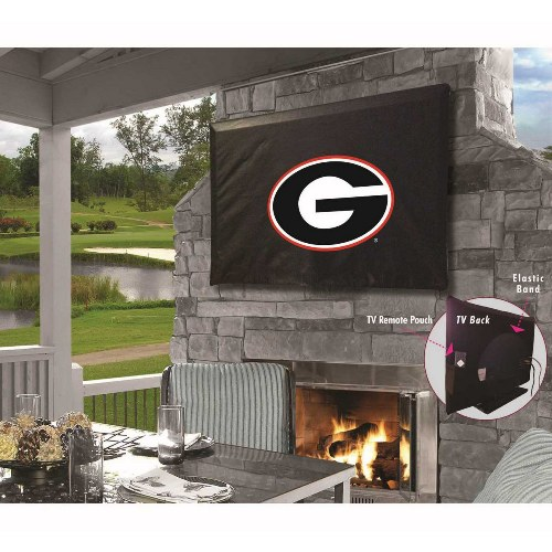 NCAA TV Cover by Holland Bar Stool, Georgia Bulldogs G Logo - 55'' x 31''