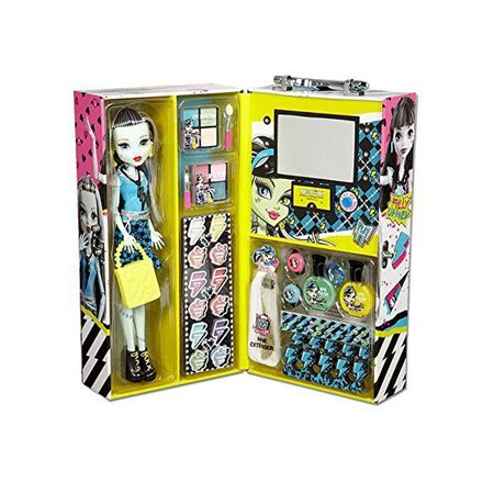 Monster High Frankie Fashion Doll Case with 57 pcs Ghoul Beauty Collection - Monster High Halloween Doll
