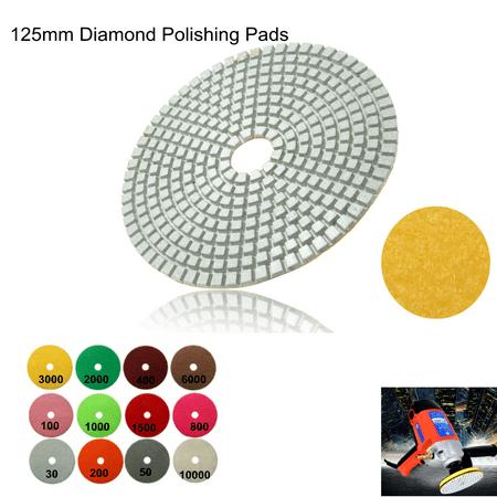 "1Pcs 125 mm/5"" Polishing Pads Wet/Dry Diamond Polishing Pads For Granite Concrete Marble Polish, Grit 30-100000 - image 5 of 7"
