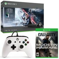 Deals on Microsoft Xbox One X 1TB Console Jedi + COD Warfare + Controller