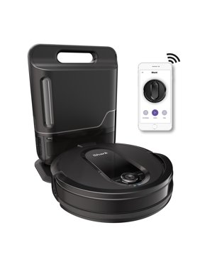 Shark RV1001AE IQ Robot Vacuum with Self-Empty Base, Wi-Fi Connected, Home Mapping, Works with Alexa, Ideal for Pet Hair, Carpets, Hard Floors