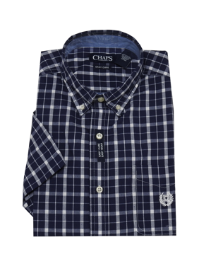 534d46fab Product Image Chaps Mens Size X-Large Short Sleeve Button-Down Easy Care Dress  Shirt,