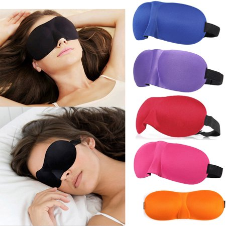 1-10Pcs Travel 3D Eye Mask Sleep Soft Padded Shade Cover Rest Relax Sleeping - Adult Sheep Mask