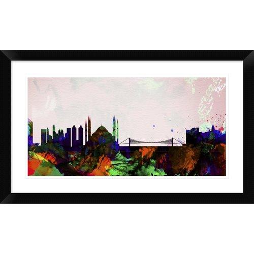 Naxart 'Istanbul City Skyline' Framed Graphic Art Print