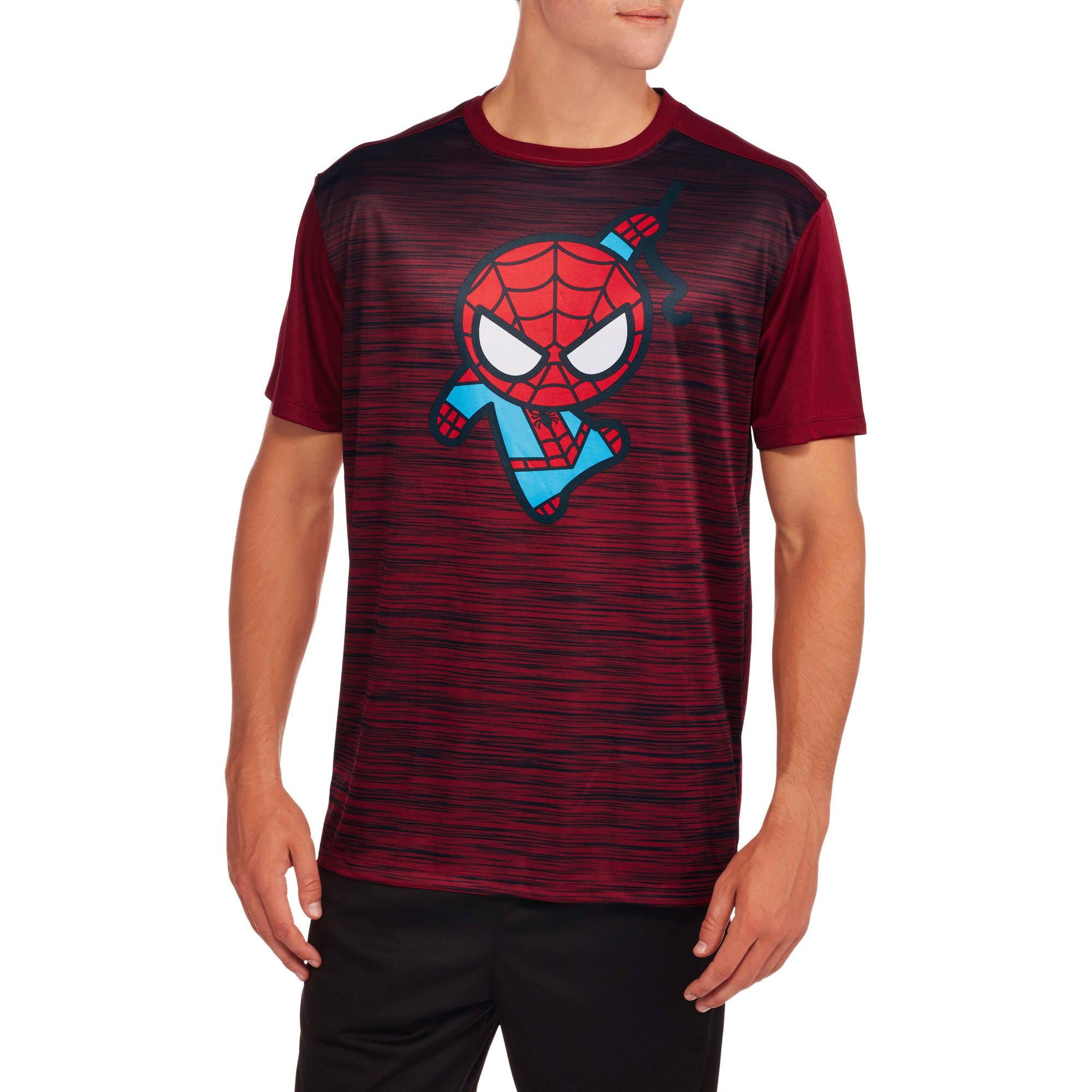 Spiderman Kawaii Big Men's Graphic Poly Tee