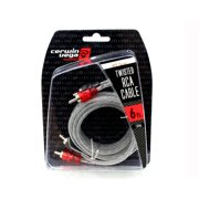 Cerwin Vega CRH6 Hed Series 2-Channel RCA Cable 6Ft Twisted Pair Single Molded Ends