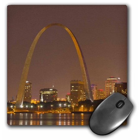3dRose Gateway Arch, St Louis, Mississippi River, Missouri - US26 CHA0012 - Chuck Haney, Mouse Pad, 8 by 8 inches