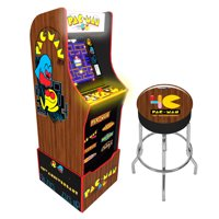 40th Anniversary, Special Edition, PAC-MAN Arcade with Marquee, Riser and Stool, Arcade1UP, 815221021419